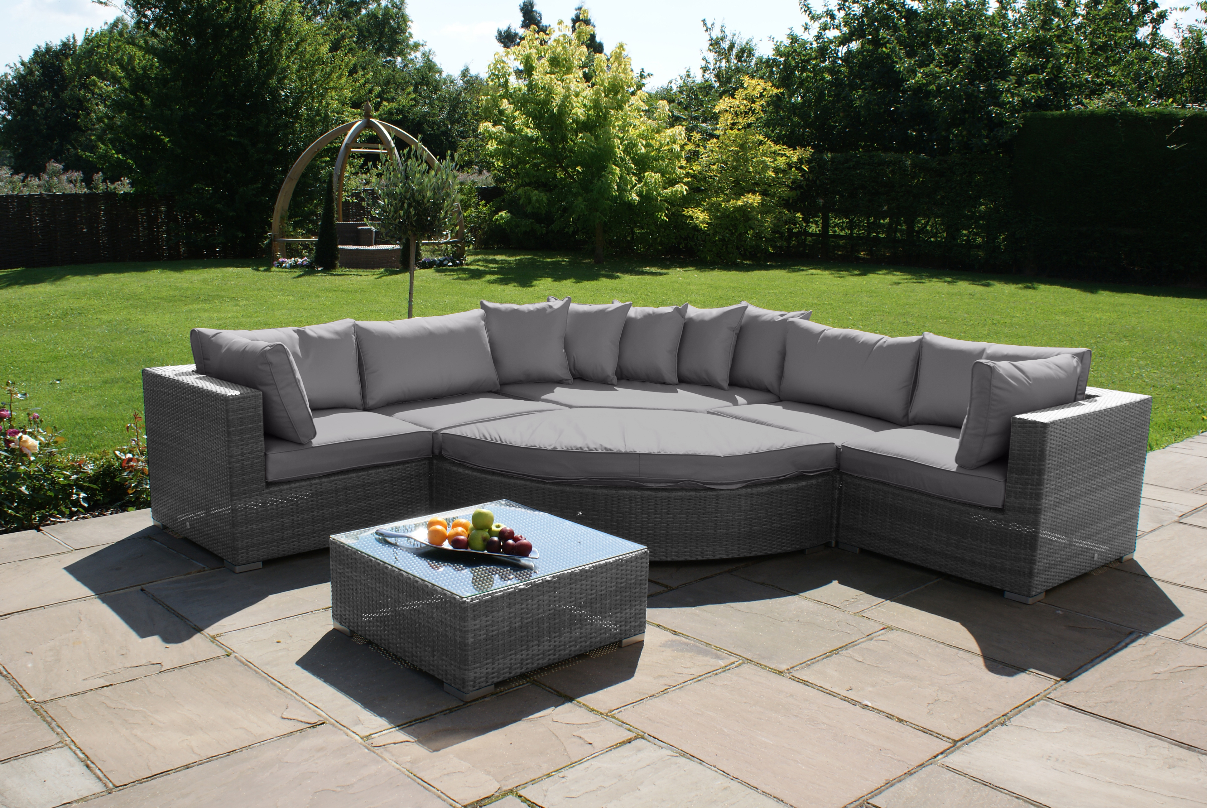 Rattan Corner Sofa Set Uk Rattan Corner Sofa 5 Seater Rattan Corner Sofa Set With
