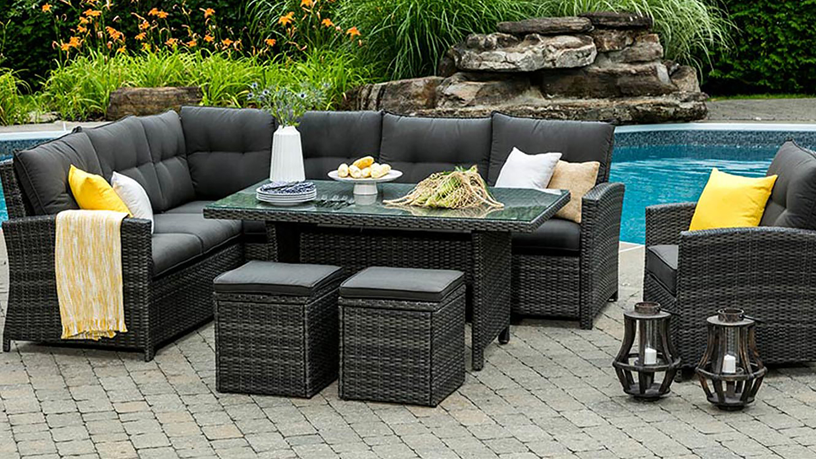 Patio Furniture Winnipeg Valencia Outdoor Dining Collection Crown Spas Pools Winnipeg