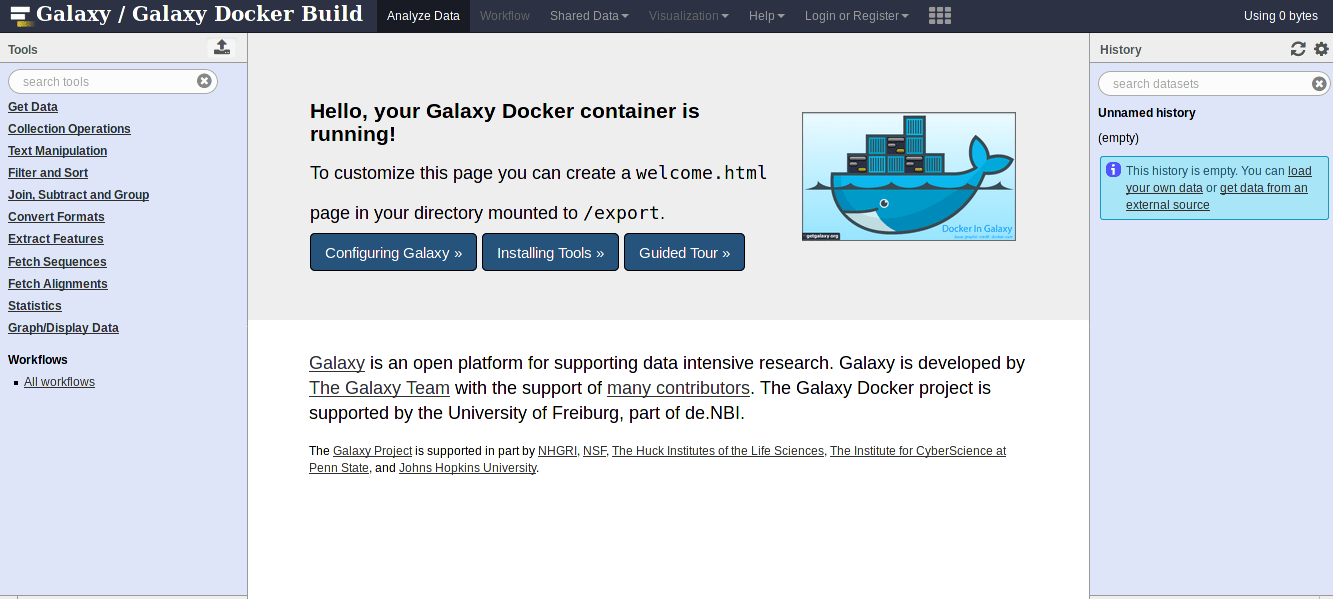 Container Freiburg Everything In A Box Docker And Galaxy Training Course On Galaxy