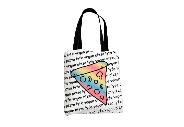 Vegan Pizza Lyfe All-Over Tote
