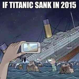 If Titanic sank in 2015 cruise travel titanic reality photoofthedayhellip
