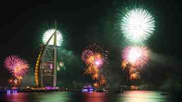 Crystal Esprit's maiden voyage offers an inclusive post- and pre-cruise New Year's Eve Extravaganza in Dubai, complete with three- or four-night accommodations at the Dubai Taj Hotel and spectacular fireworks display. (PRNewsFoto/Crystal Cruises)