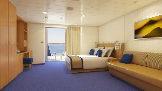 Sofa King Quick Carnival Sunrise Aft-view Extended Balcony Room | Cruisebe