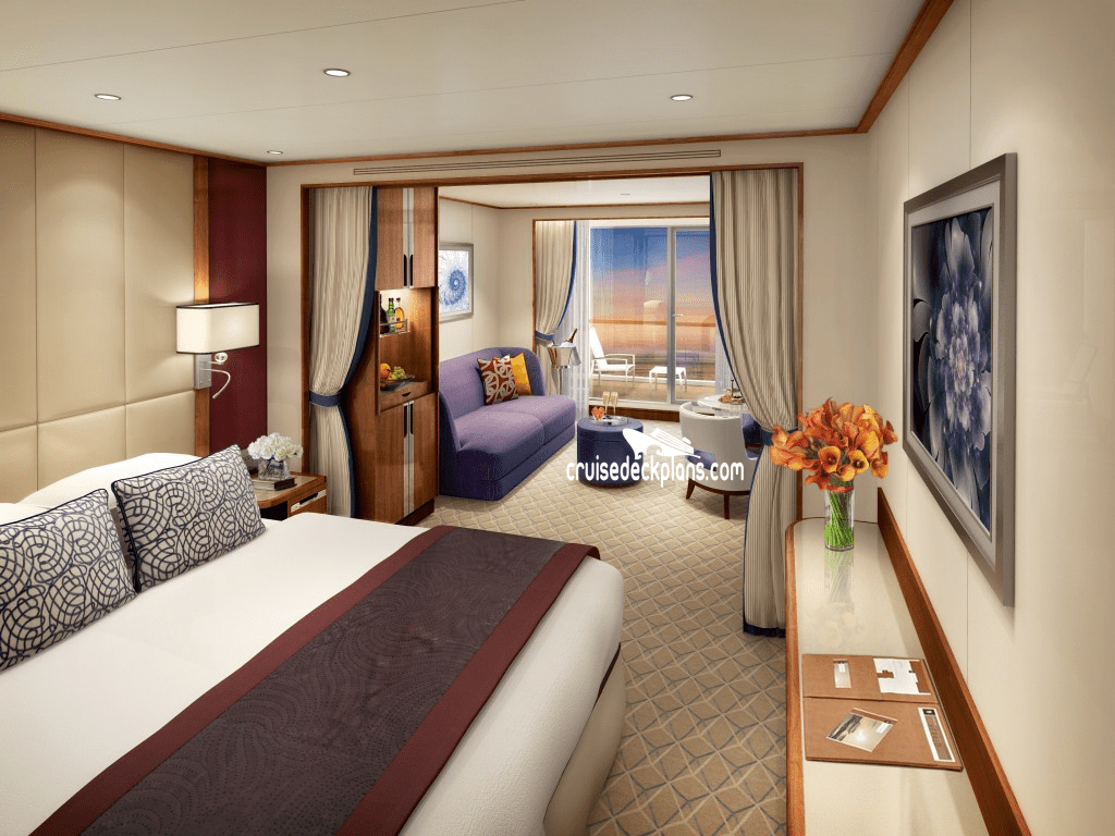 Pantry Size Seabourn Encore Deck Plans - Cabin Diagrams - Pictures