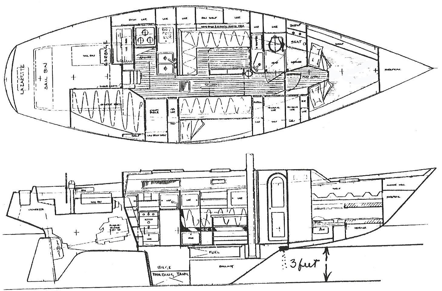 morgan sailboats diagrams