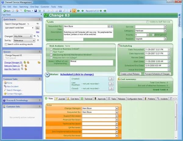 It Service Management Cherwell It Service Management