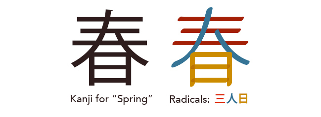 radicals-for-spring-kanji