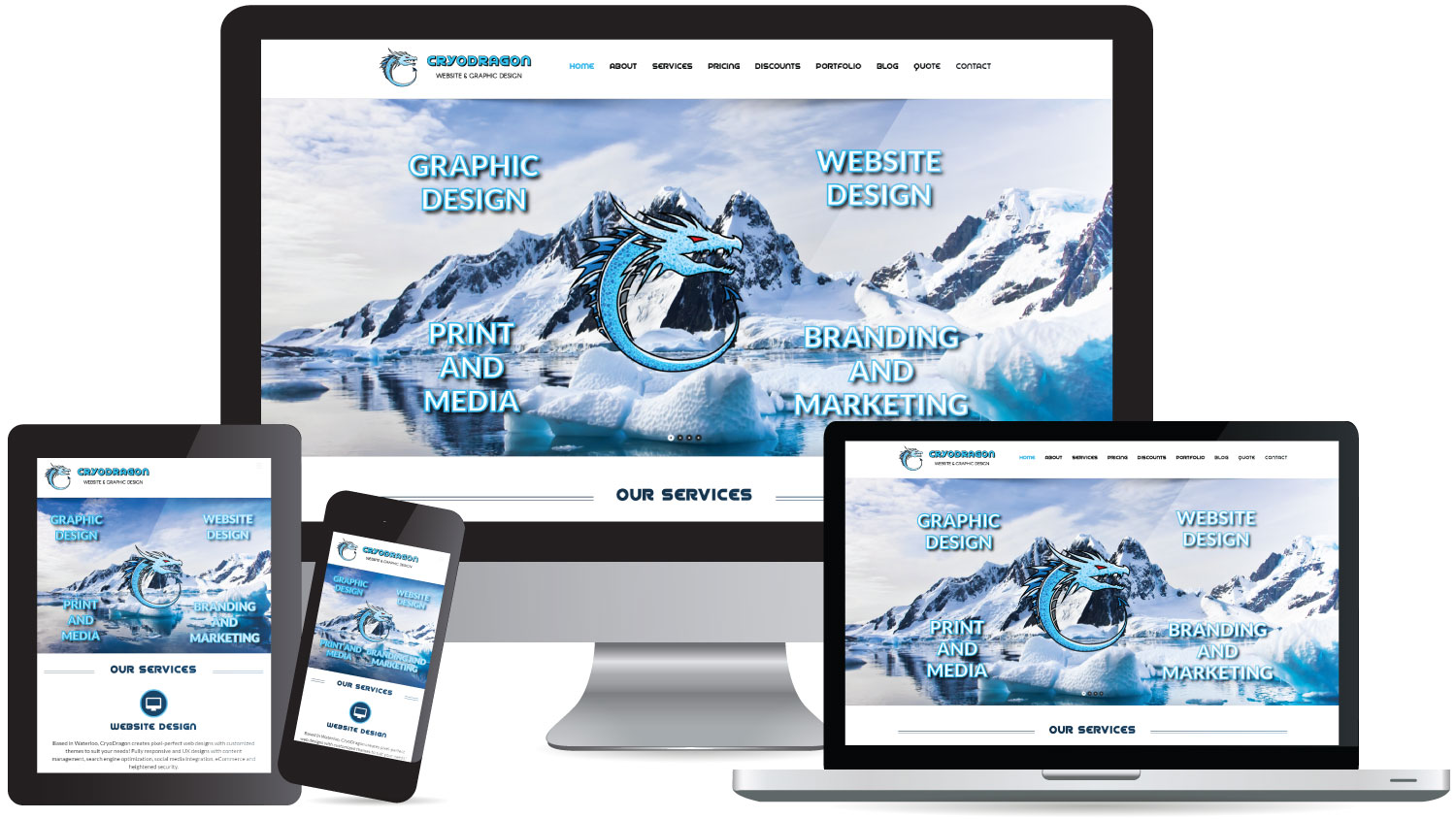 Website Design CryoDragon (Kitchener Waterloo Cambridge)