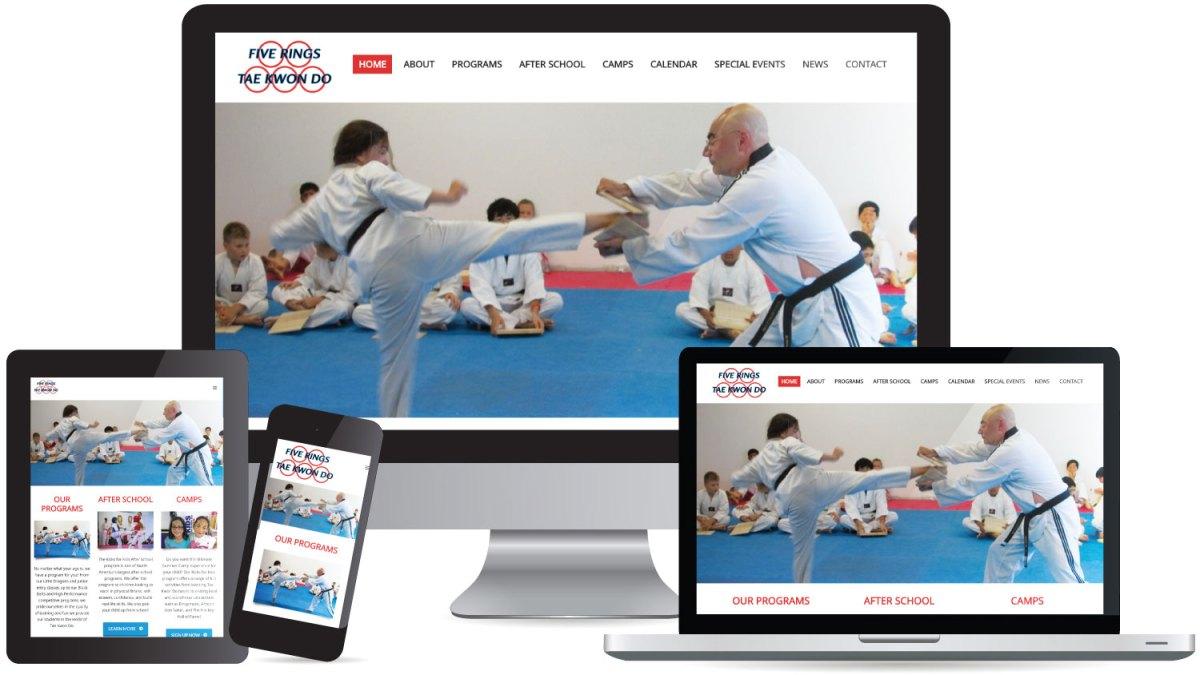 Website Design Five Rings Tae Kwon Do