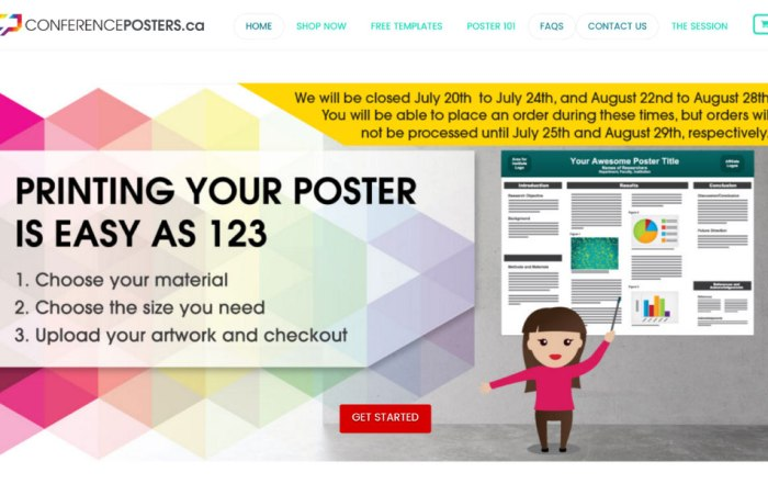 ConferencePosters Website Launch
