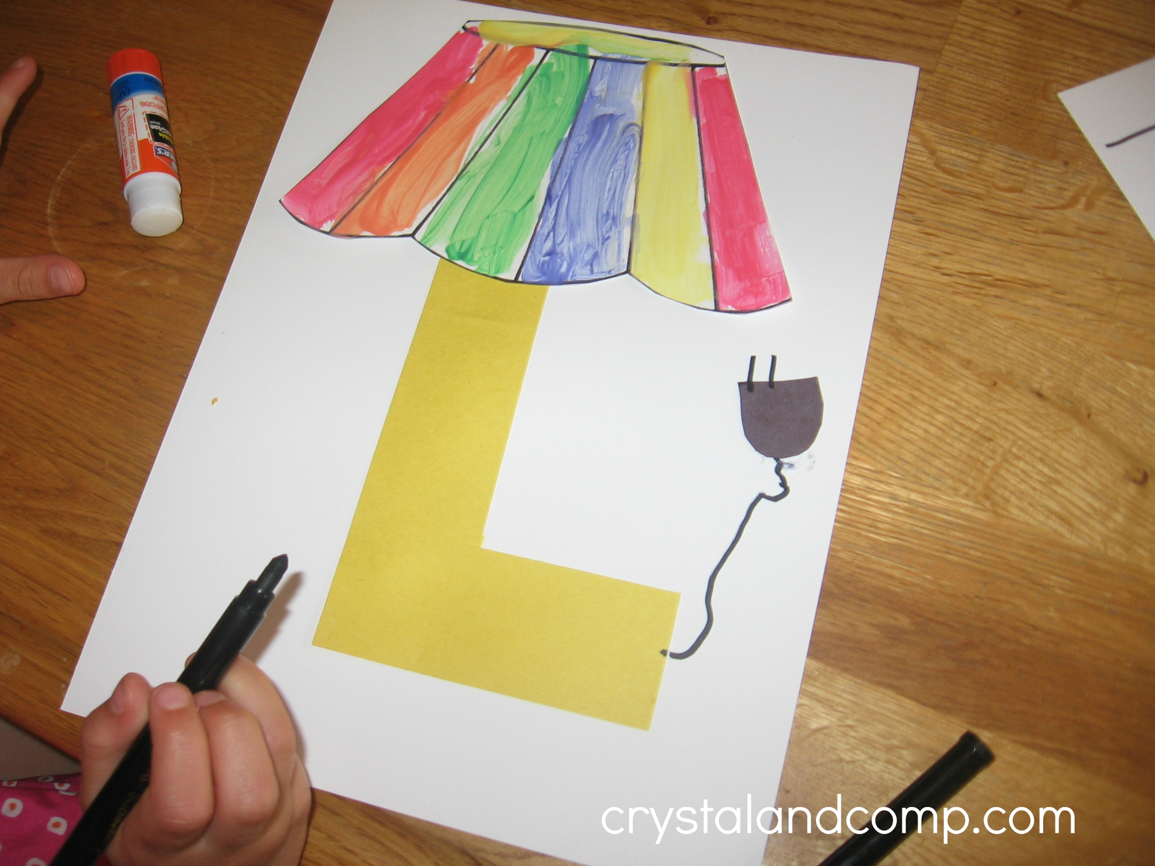 Art And Craft For Preschool Alphabet Activities For Preschoolers L Is For Lamp