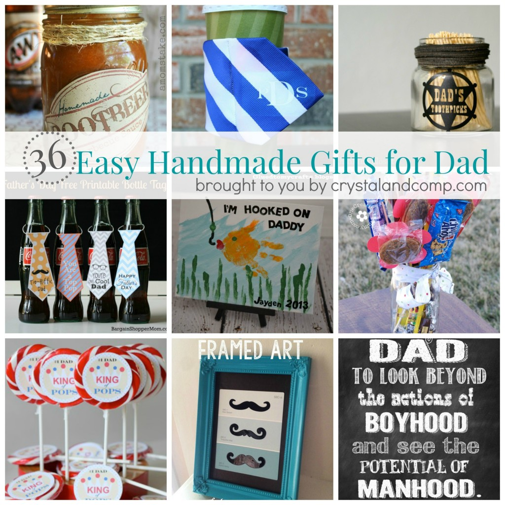 Easy Diy Birthday Gifts For Dad 36 Easy Handmade Gift Ideas For Dad Crystalandcomp