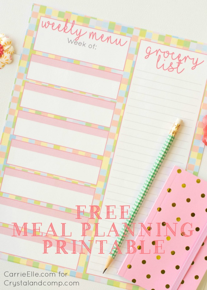 Free Meal Planning Printable {with a Fun, Spring Theme