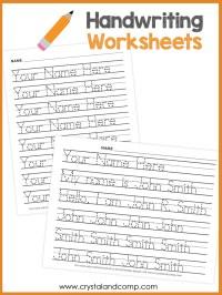 Tracing Name Worksheet - Bluegreenish