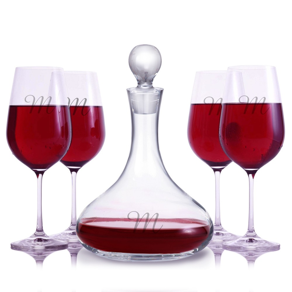 Decanter Wine Glas Personalized Mercury Wine Decanter Stemmed Sets By Crystalize