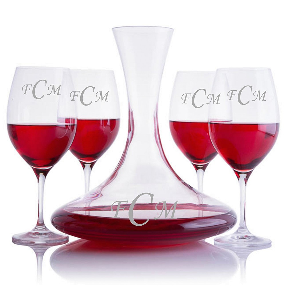 Decanter Wine Glas Personalized Excaliber Magnum Crystal Wine Decanter Gift Set By Ravenscroft