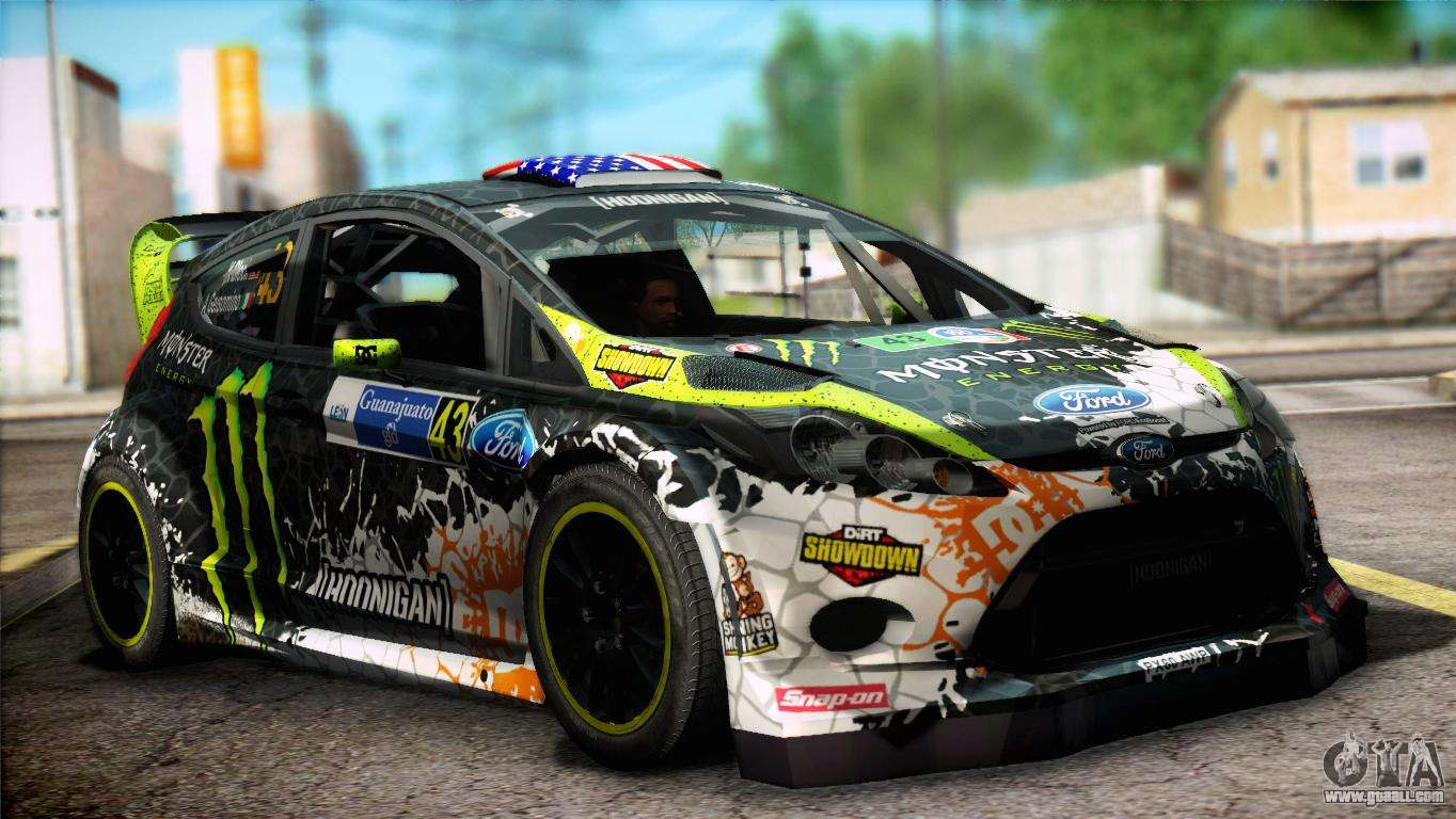 Monster Rally Car Wallpaper Ford Fiesta Rs Wrc 2013 For Gta San Andreas