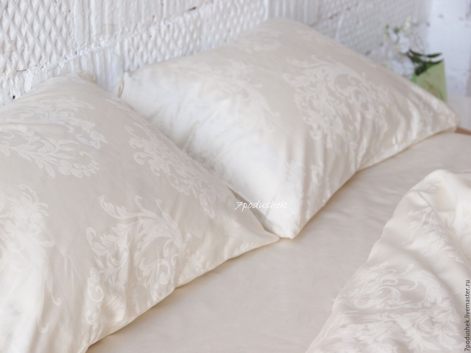 Satin Duvet Cover Ivory Bedding Ivory Linen Duvet Cover Set Cotton Satin Bedding Shop Online On Livemaster With Shipping
