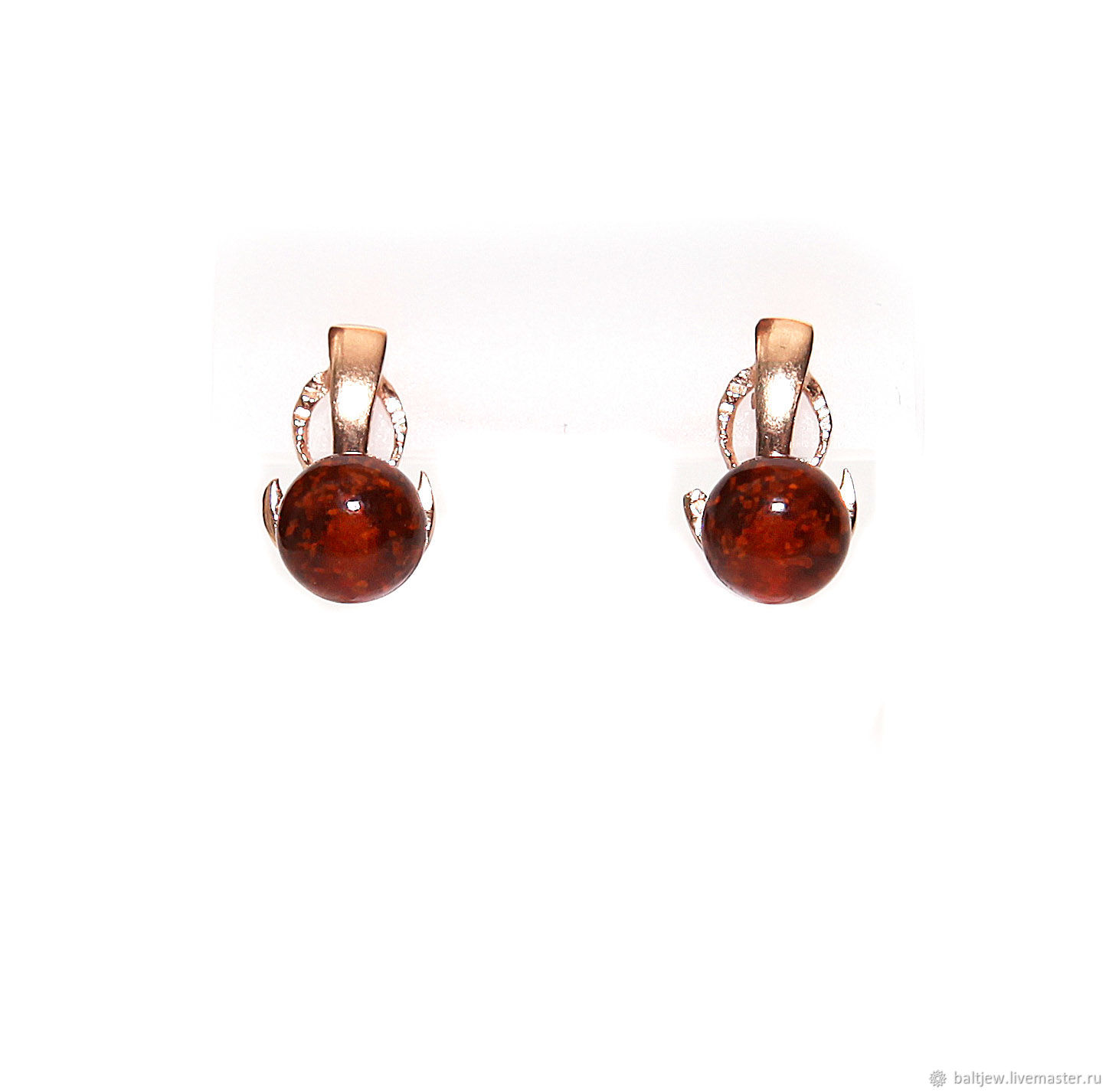 Spiegel Online Shop Earrings With Baltic Amber
