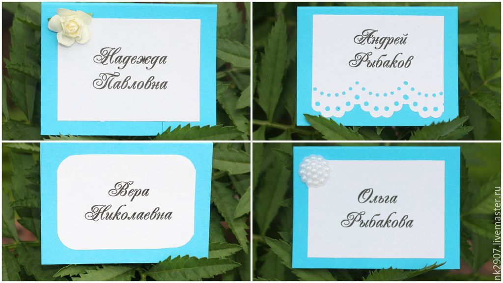 Place cards for 24 RUB \u2013 shop online on Livemaster with shipping - buy place cards