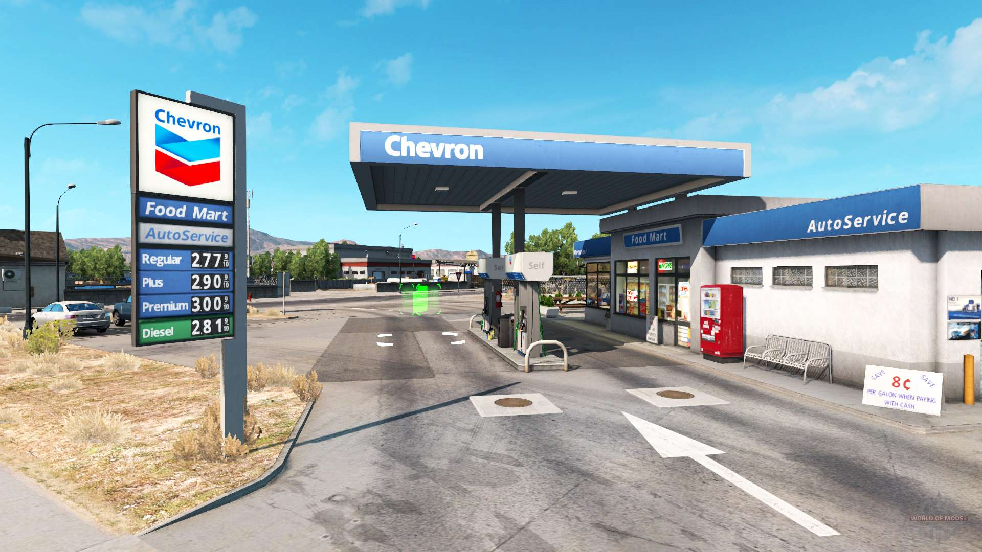 Gasoline Stations Real Gas Station For American Truck Simulator