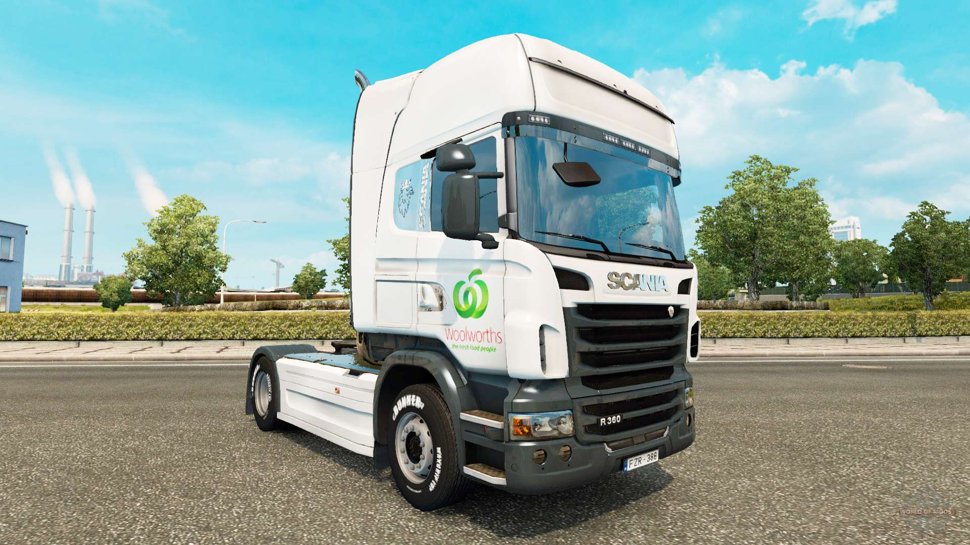 Daf Scania Skin Woolworths For Trucks Daf Scania And Volvo For Euro Truck