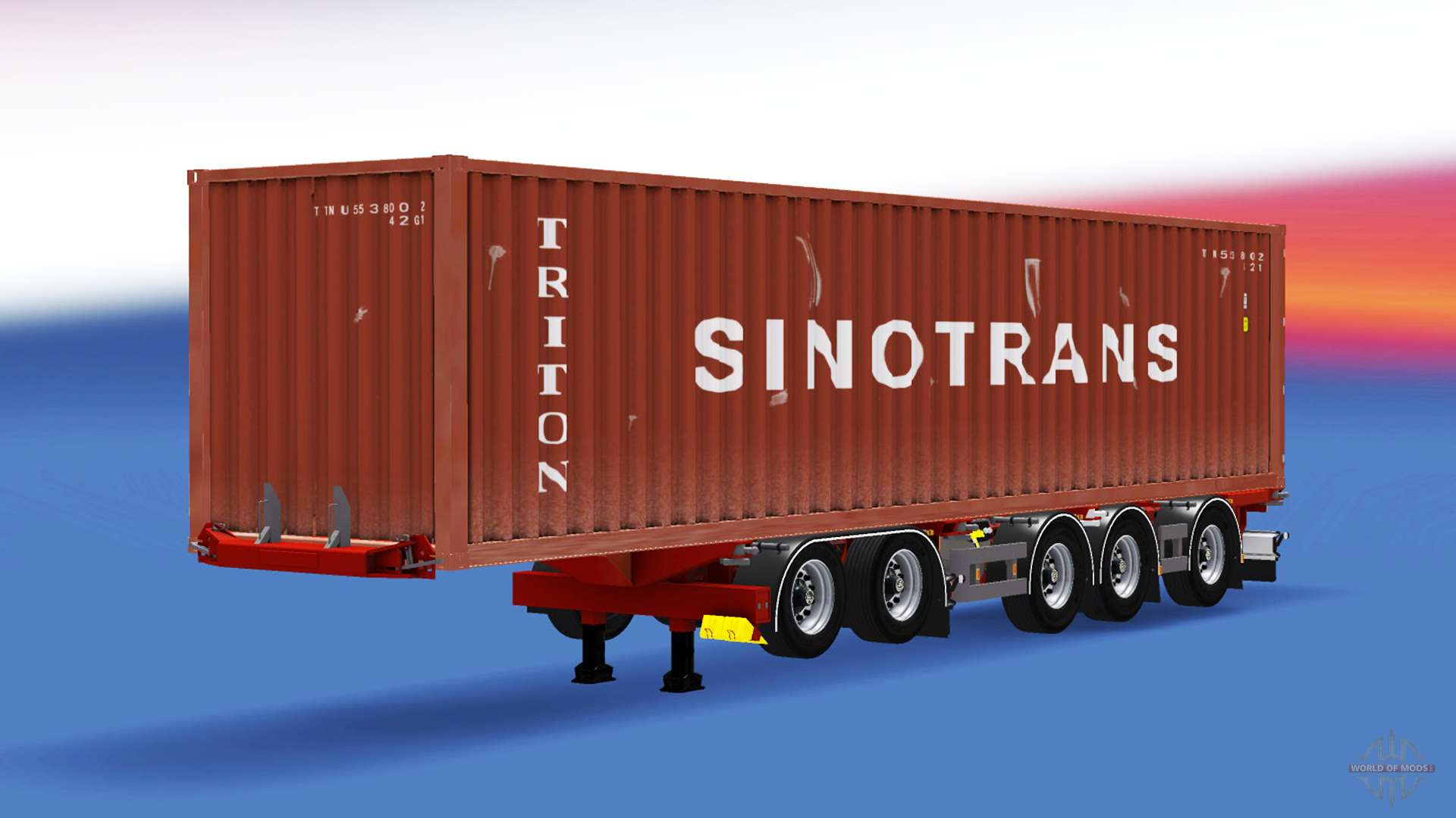 D Tec Container Semi Trailer D Tec For American Truck Simulator