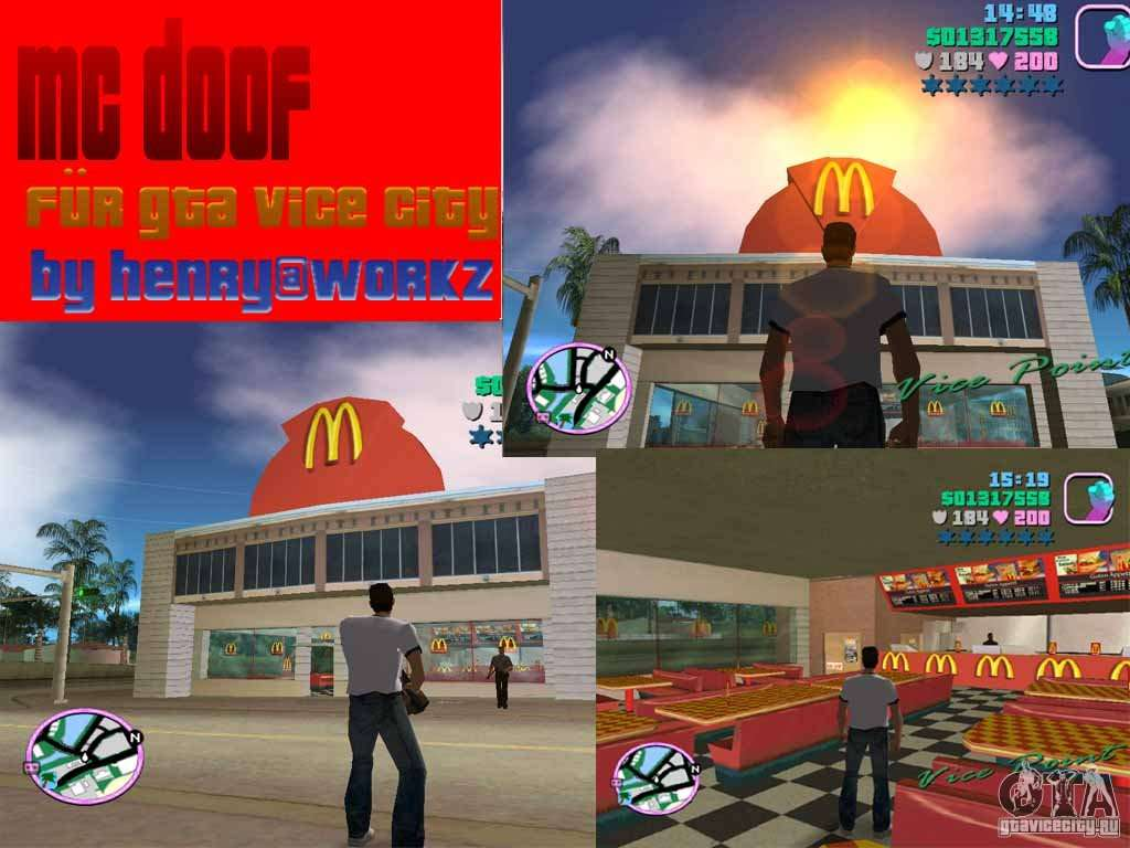 Car Zip Mcdonalds For Gta Vice City