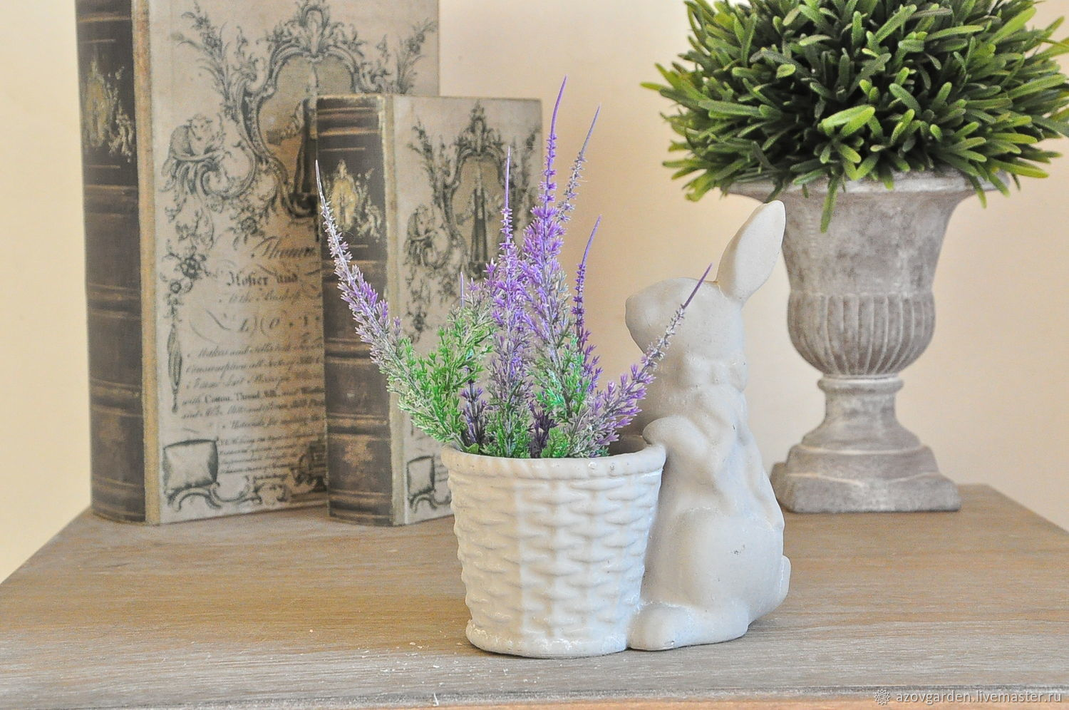 Provence Decoration Hare With Concrete Planters For Interior Decoration Provence Shabby Vintage Shop Online On Livemaster With Shipping