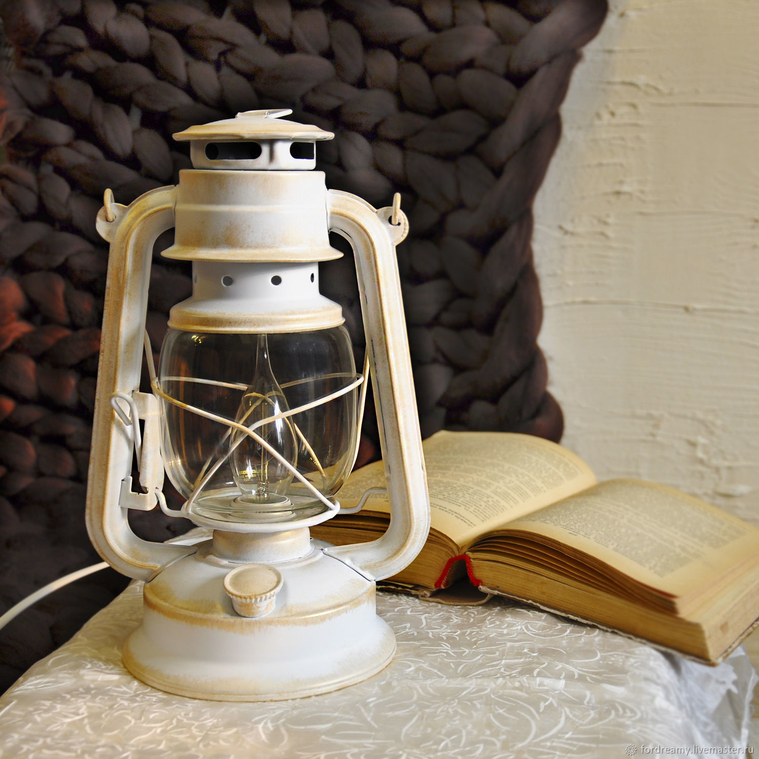 Diy Kerosene Lamp Kerosene Lamp Electric White Desktop Kerosene Retro Loft Shop Online On Livemaster With Shipping