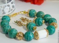 bracelet earrings amazon natural stone amazonite  shop ...