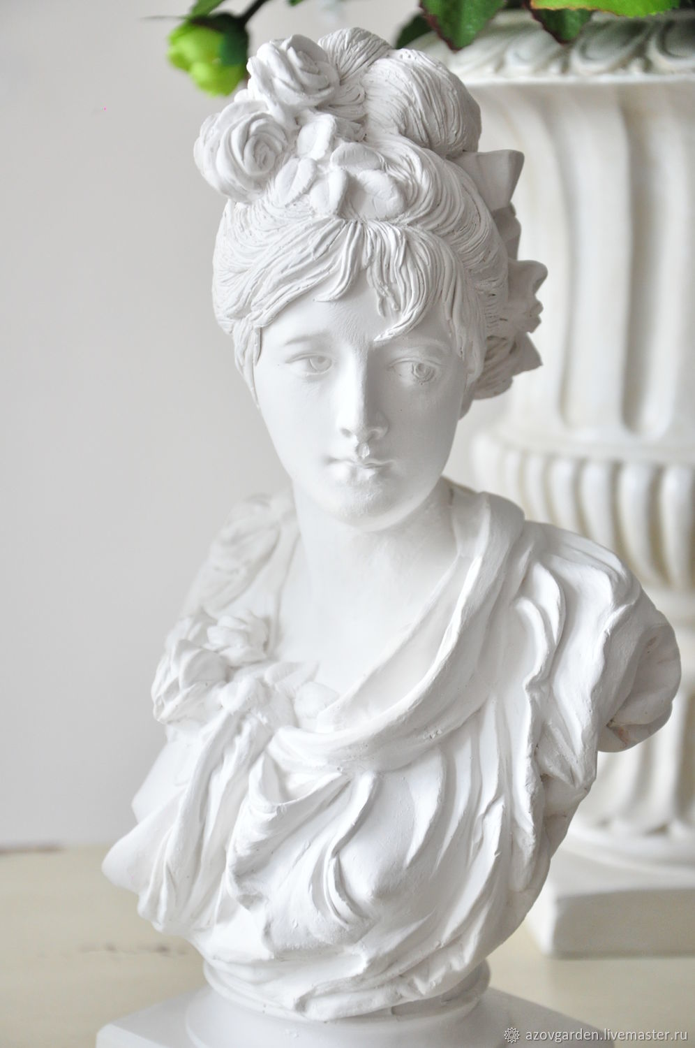 Provence Decoration Bust Girls From Gypsum For Interior Decoration The Provence Classic Shop Online On Livemaster With Shipping
