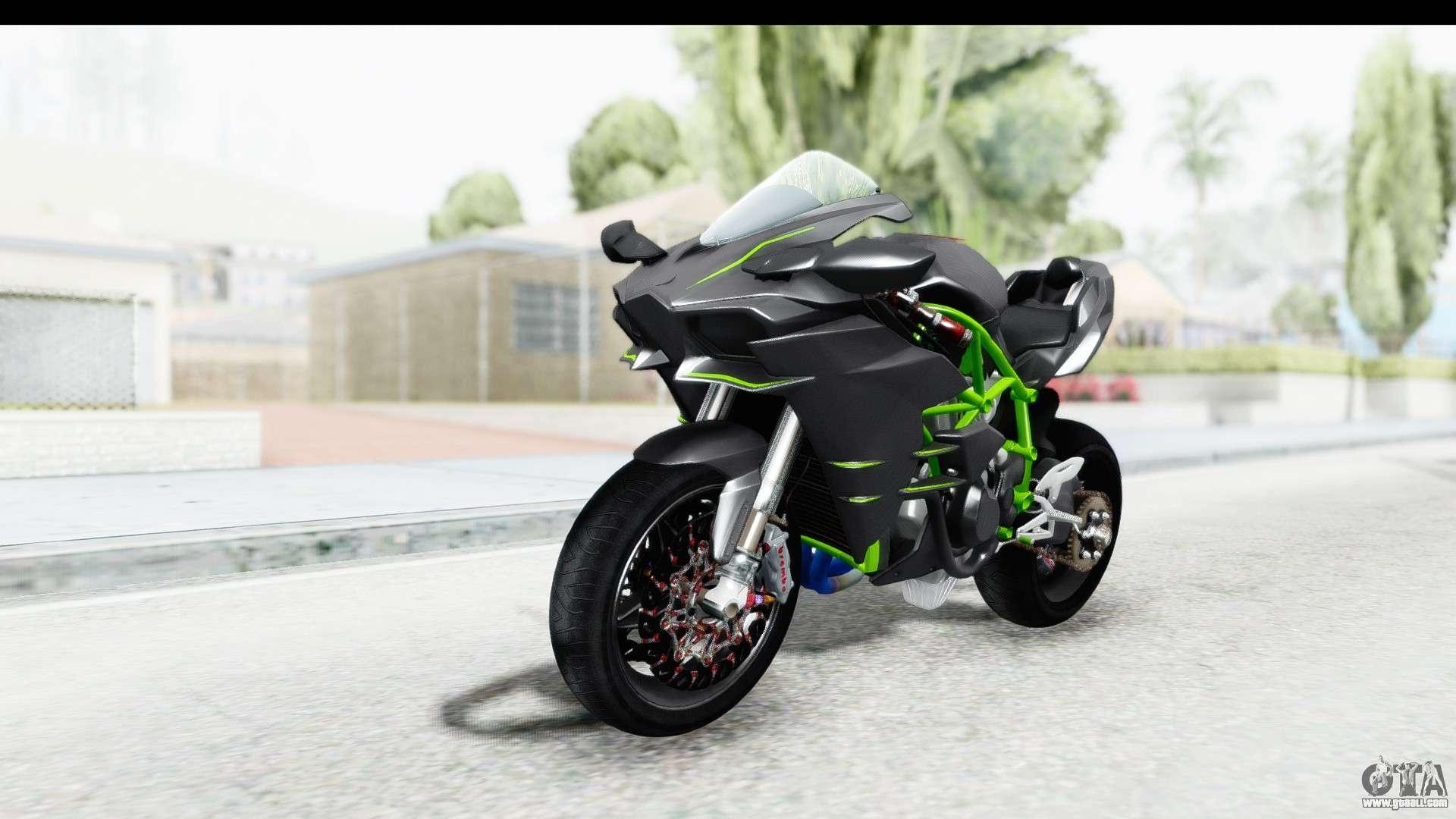 Ktm Motocross Wallpaper Hd Kawasaki Ninja H2r Black For Gta San Andreas