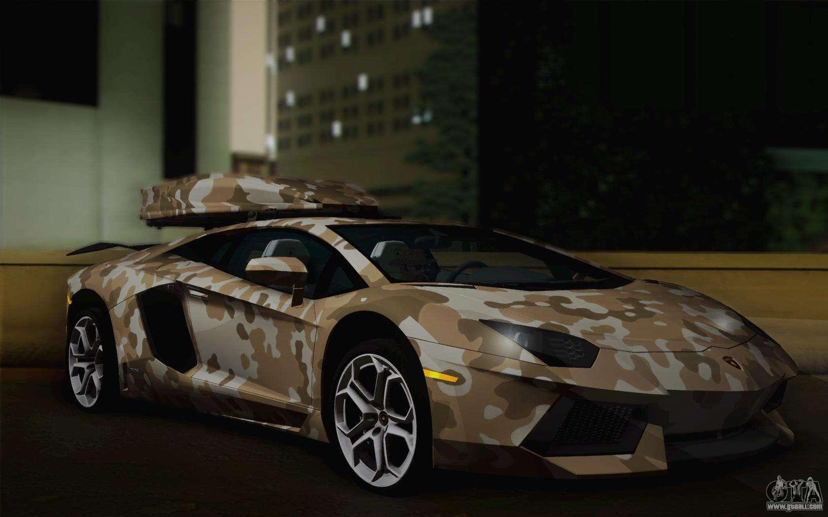 Cheetah Wallpaper Hd Lamborghini Aventador Lp 700 4 Camouflage For Gta San Andreas
