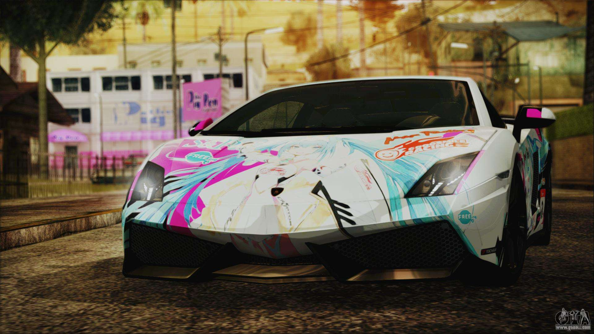Gta 5 Cars Wallpaper Download Lamborghini Gallardo Lp570 4 2015 Miku Racing 4k For Gta