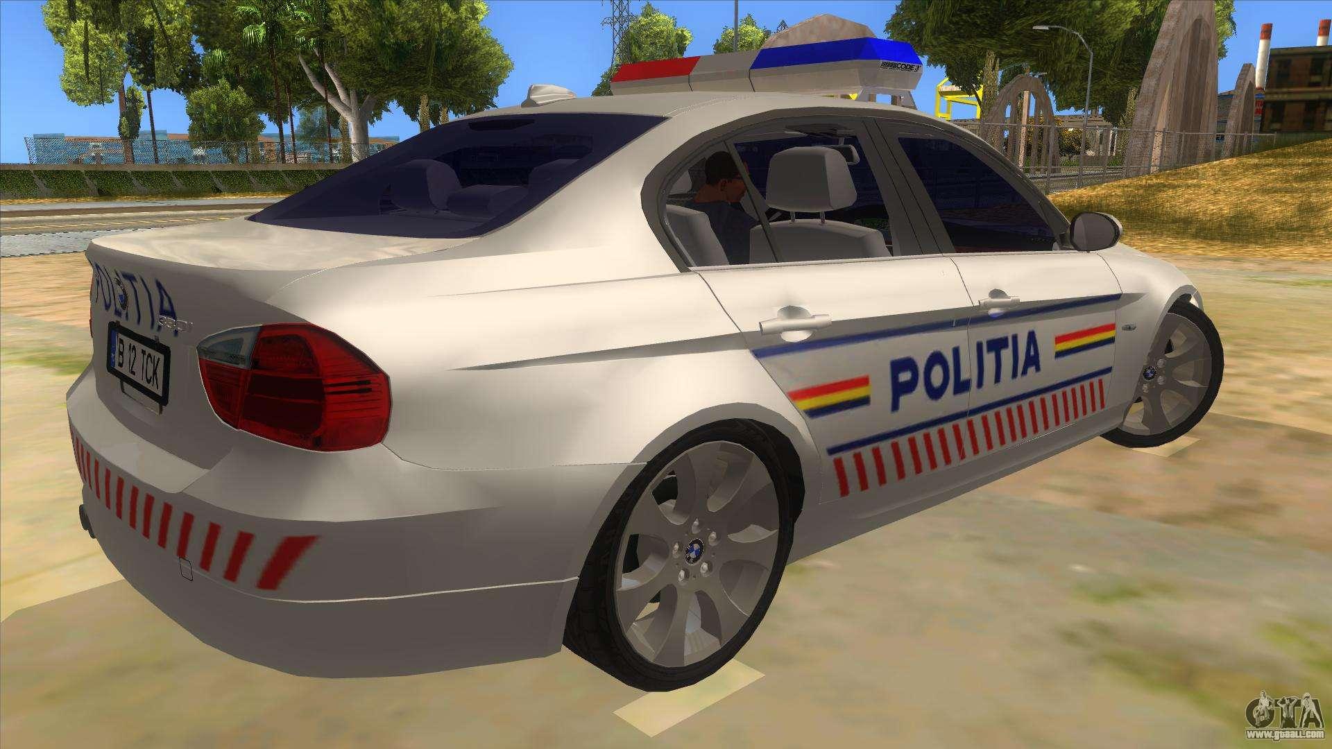 Police Car Lights Wallpaper Bmw 330xd Romania Police For Gta San Andreas