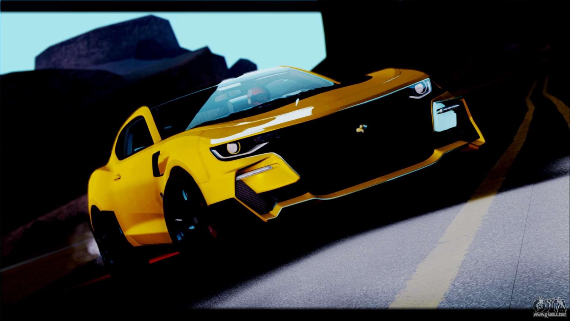 Bumblebee Car Wallpaper Download Chevrolet Camaro Ss 2016 Bumblebee Tf 5 For Gta San Andreas