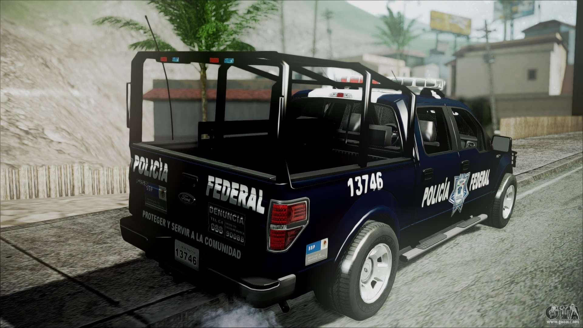 Police Car Lights Wallpaper Ford Pickup Policia Federal Para Gta San Andreas