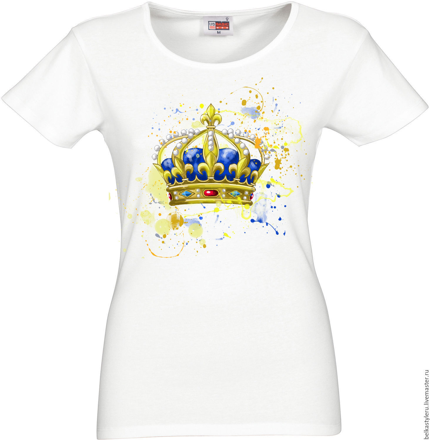 Design t shirt hand made -  Handmade T Shirt Hand Painted Crown Belkastyle Download