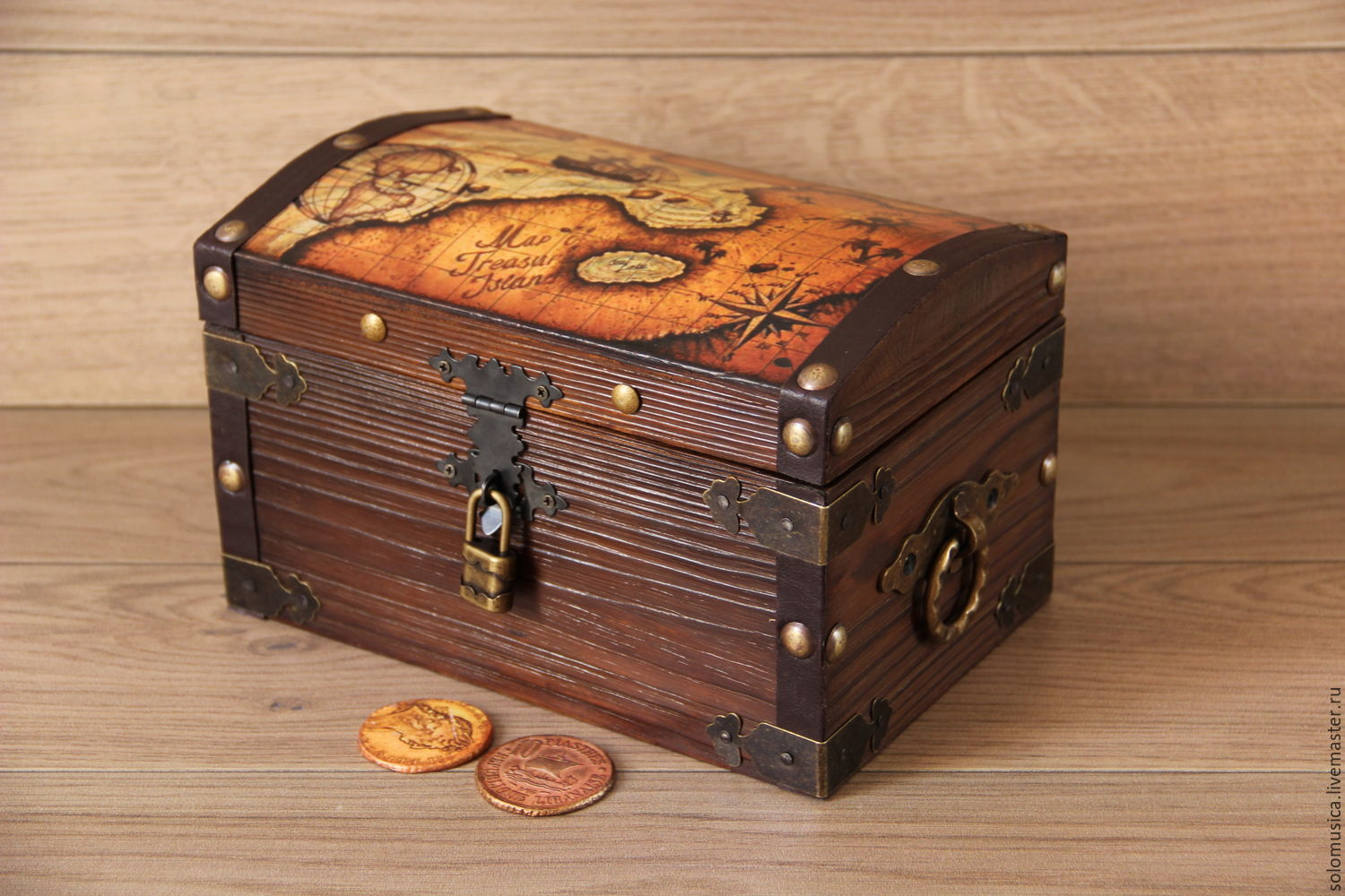 Buy Money Box Treasure Chest Quotpirate Large Quot Shop Online On Livemaster