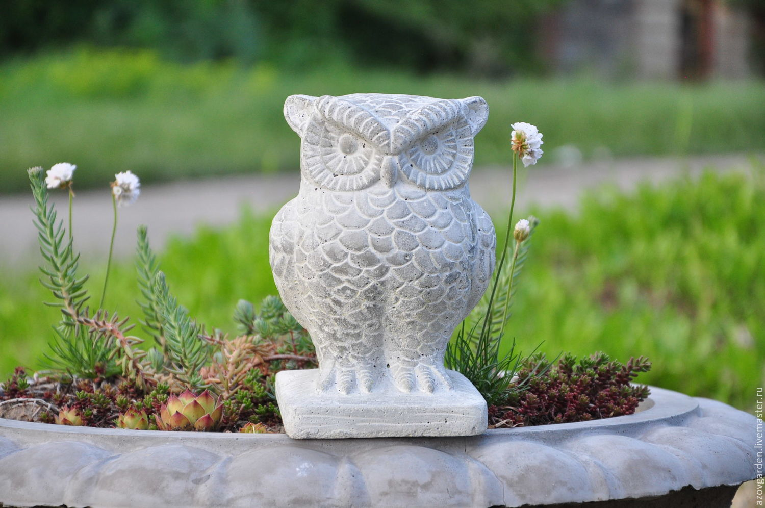 Provence Decoration The Garden Owl Statue Made Of Concrete In The Provence Style Decoration For Flower Beds Shop Online On Livemaster With Shipping