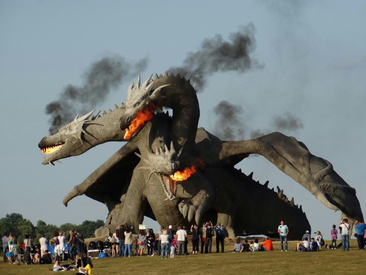Giant Dragon Statue Zmey Gorynych From Lipetsk Russia