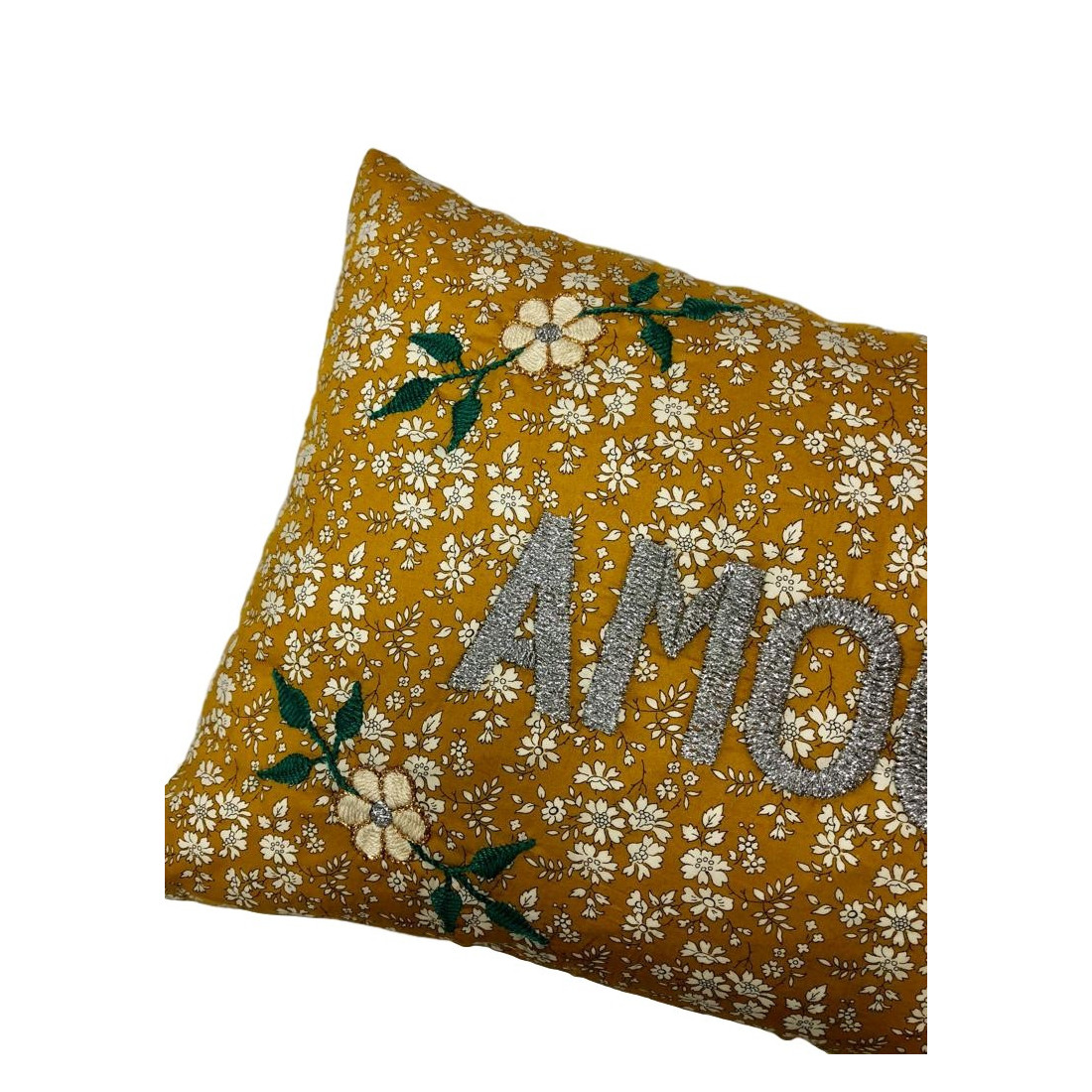 Brodé Liberty Embroidered Cushion Love