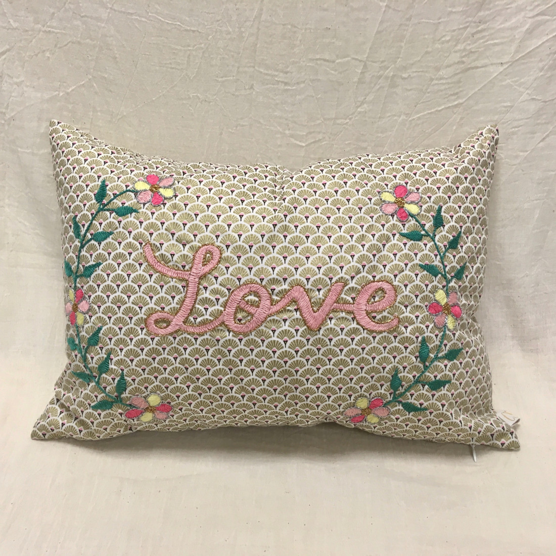 Brodé Love Embroidered Cushion