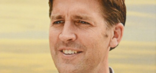 A photo depicts Sasse on a flyer announcing his arrival.
