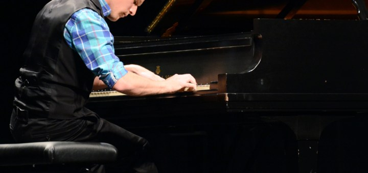 Bobby Pace, Chadron State College accompanist, plays at his piano recital Sunday. —Photo by Stephanie Steele
