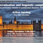 Arthur Spirling Nov 13 poster