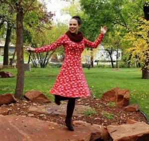 Lady Skater Dress by Katie of Kadiddlehopper