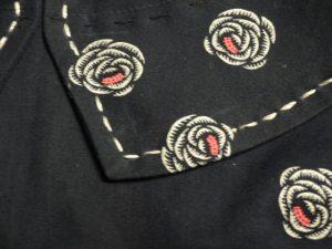 Collar detail - Emery Dress sewalong - csews.com