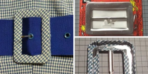 How to make a fabric-covered belt buckle - CSews.com